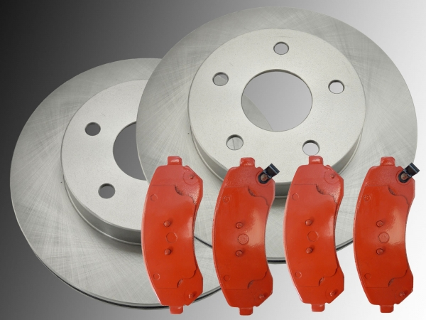 BRAKE ROTORS AND PADS FRONT BUICK RENDEZVOUS 2002-2007