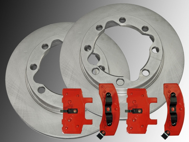 Rear Brake Rotors Metallic Pads For 2006 2007 2008 RAM 1500 2500 3500 2WD 4WD