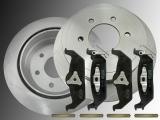 Rear Brake Rotors Ceramic Rear Brake Pads Ford F-150 2004-2011 6 Bolt Holes