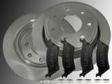 Rear Brake Rotors 7 Lugs Ceramic Rear Brake Pads Ford F-150 2012-2014