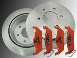 Rear Brake Rotors Rear Brake Pads Ford F-150 2004-2011 6 Bolt Holes