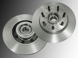 Front Brake Rotors and Hub Assembly Ford F-150 Pickup 2004-2008 2WD 7 Studs