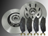 Front Brake Rotors and Hub Assembly Ceramic Front Brake Pads Ford Pickup F-150 2004-2008 2WD 7 Studs