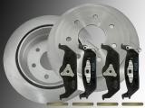 Rear Brake Rotors Ceramic Rear Brake Pads Ford F-150 Pickup 2004-2011 7 Bolt Holes