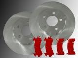 2 Bremsscheiben Bremsbeläge vorne Chevrolet Blazer 1995-1996 4WD