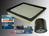 1x Oli Filter, 1x Air Filter 8x Spark Plags Autolite Platin Ford F150 5.4L V8 SVT Lightning 1999-2004