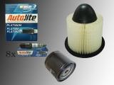 Oil Filter, Air Filter 8 Platinum Spark Plags  inspektion Kit Ford F-150 4.6L V8 1997-2003