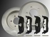 Set 2 Rear Brake Rotors Ceramic and Rear Brake Pads Ford Expedition 1999-2002 5 Bolt Holes