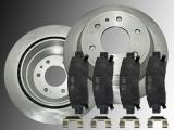 2 Bremsscheiben Keramik Bremsklötze hinten Chevrolet Trailblazer 2002-2009 Trailblazer EXT