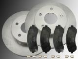Front Brake Rotors and Ceramic Front Brake Pads Buick Rendezvous 2002-2007