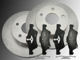 2 Bremsscheiben Keramik Bremsklötze vorne Dodge Caravan 2001-2007 281mm