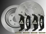 Rear Brake Rotors Ceramic Rear Brake Pads Lincoln Mark LT 2006-2008 7 Bolt Holes