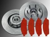 2 Bremsscheiben incl. Nabe Satz Bremsklötze vorne Lincoln Mark LT 2006-2008 2WD mit 6 Radbolzen