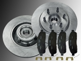 Front Brake Rotors and Hub Assembly Ceramic Front Brake Pads Lincoln Mark LT 2006-2008 2WD 6 Stud