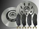 2 Bremsscheiben incl. Nabe Keramik Bremsklötze vorne Lincoln Mark LT 2006-2008 2WD 7 Radbolzen