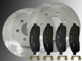 Front Brake Rotors and Ceramic Front Brake Pads  Lincoln Mark LT 4WD 2006-2008 6 Stud