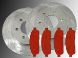 2 Bremsscheiben Satz Bremsklötze vorne Lincoln Mark LT 4WD 2006-2008 4WD 2004-2008 6 Radbolzen