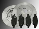 2 Bremsscheiben Keramik Bremsklötze hinten Pontiac G6 2005-2010