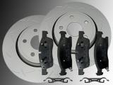 Slotted Front Brake Rotors Ceramic Front Brake Pads Dodge Durango 2011-2020  350mm Outside Diameter