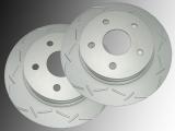 Slotted Front Brake Rotors Chrysler Aspen 2007-2009