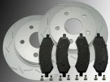 2 Geschlitzte Bremsscheiben Keramik Bremsklötze vorne Dodge RAM 1500 Pickup 2006-2018
