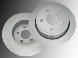 Slotted Rear Brake Rotors Chrysler Aspen 2007 - 2009
