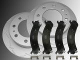 2 Geschlitzte Bremsscheiben und Keramik Bremsklötze vorne Hummer H2 2003-2009