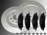 2 Geschlitzte Bremsscheiben Keramik Bremsklötze vorne Ford Mustang 3.7L, 5.0L 2011-2014 336mm Aussendurchmesser