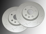 Front Slotted Brake Rotors Chevrolet Malibu 2013-2015 321mm Outside Diameter