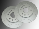 Slotted Front Brake Rotors Chevrolet Express 1500 2009-2014