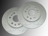Slotted Front Brake Rotors GMC Savana 1500 2009-2014