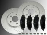 2 Geschlitzte Bremsscheiben und Keramik Bremsklötze vorne Ford Mustang 2005-2014 316,00mm Durchmesser