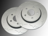 Front Slotted Brake Rotors Jeep Commander XK/XH 2006-2010