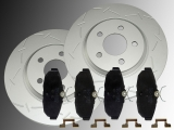 2 Geschlitzte Bremsscheiben Keramik Bremsklötze hinten Ford Mustang 2005-2014