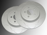 Front Slotted Brake Rotors Dodge Magnum 2005-2008 Rotors with 345mm Diameter