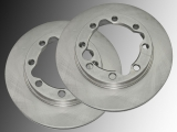 2 Front Brake Rotors Chevrolet K3500 1988-2000 with Rear Single Wheels