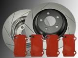 Slotted Rear Brake Rotors Brake Pads Chrysler 300C SRT8 2011-2014