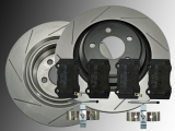 Slotted Rear Brake Rotors Ceramic Rear Brake Pads Chrysler 300C SRT8 2005-2010