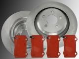 Rear Brake Rotors Brake Pads Chrysler 300C SRT8 2011-2014