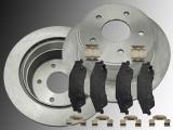 2 Bremsscheiben Keramik Bremsklötze hinten Chevrolet Blazer 4WD 1997-2005