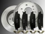 2 Bremmscheiben Keramik Bremsklötze hinten GMC Sierra 1500 2007-2013