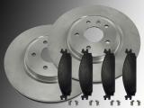 Front Brake Rotors 325mm Ceramic Front Brake Pads Ford Taurus 2010-2019