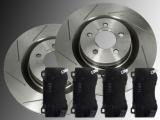 Slotted Front Brake Rotors Front Brake Pads Chrysler 300C SRT8 2011-2014