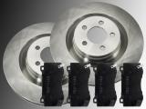 2 Front Brake Rotors Ceramic Front Rrake Pads Dodge Challenger SRT8 2008-2018