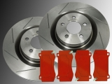 Slotted Front Brake Rotors Front Brake Pads Dodge Charger SRT8 2006-2019