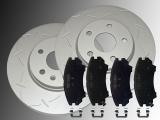 2 Geschlitzte Bremsscheiben 321mm Keramik Bremsklötze vorne Chevrolet Camaro 3.6L V6 2010-2014