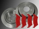Rear Brake Rotors 6 Lug Rear Brake Pads Ford F-150 2012-2018