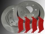Rear Brake Rotors 7 Lugs Rear Brake Pads Ford F-150 2012-2014