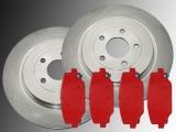 2 Bremsscheiben 328mm, Bremsklötze hinten Chrysler Grand, Voyager Lancia Voyager 2012-2016