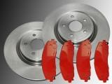 Front Brake Rotors 330mm Front Brake Pads Volkswagen Routan 2012 - 2013